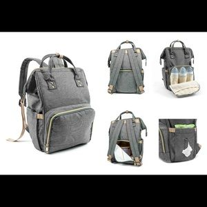 Handbags - Charcoal diaper backpack
